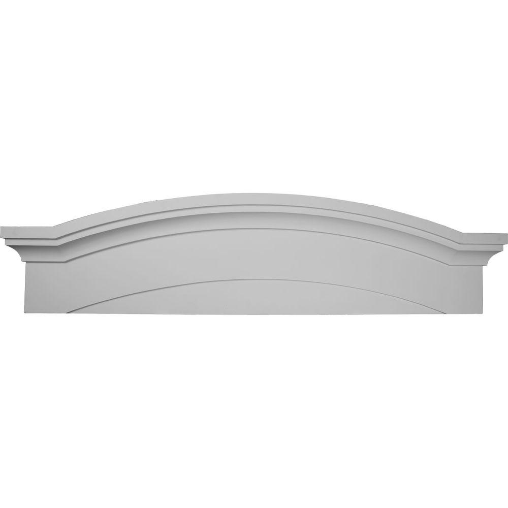 Ekena Millwork 57-1/2 in. x 1-1/8 in. x 14-7/8 in. Massive Emery Pediment