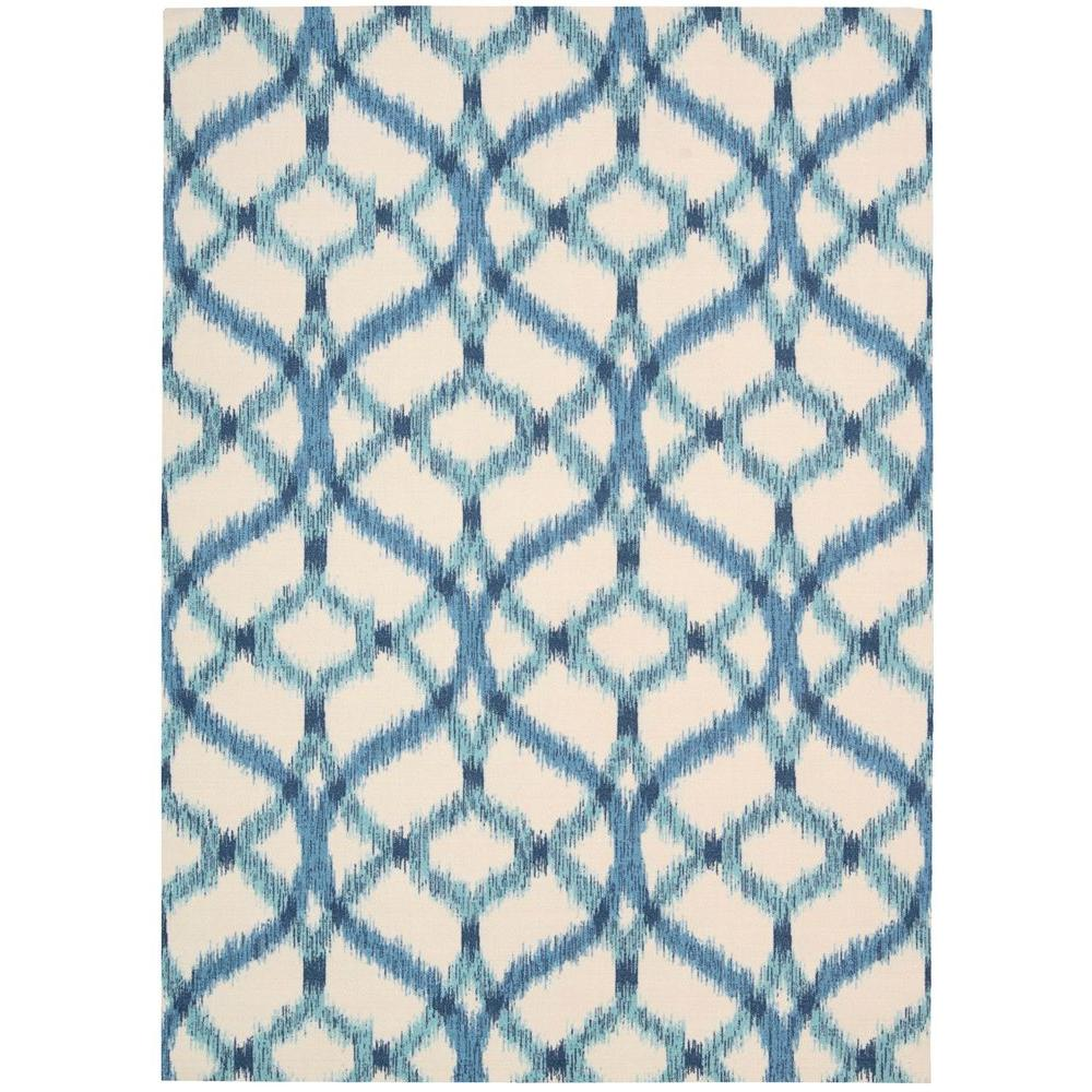 Nourison Izmir Ikat Aegean 8 Ft X 11 Indoor Outdoor Area Rug