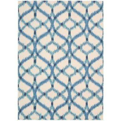 Izmir Ikat Aegean 8 ft. x 11 ft. Indoor/Outdoor Area Rug