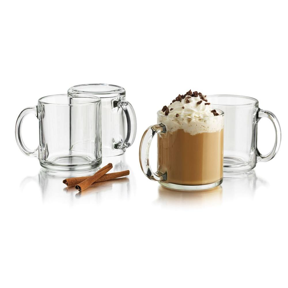 Libbey 13-Ounce Classic Coffee Mug, Box of 12 in Clear