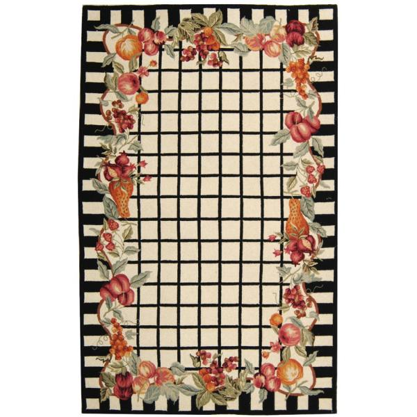 Safavieh Chelsea Ivory Black 8 Ft 9 In X 11 Ft 9 In Area Rug Hk125a 9 The Home Depot