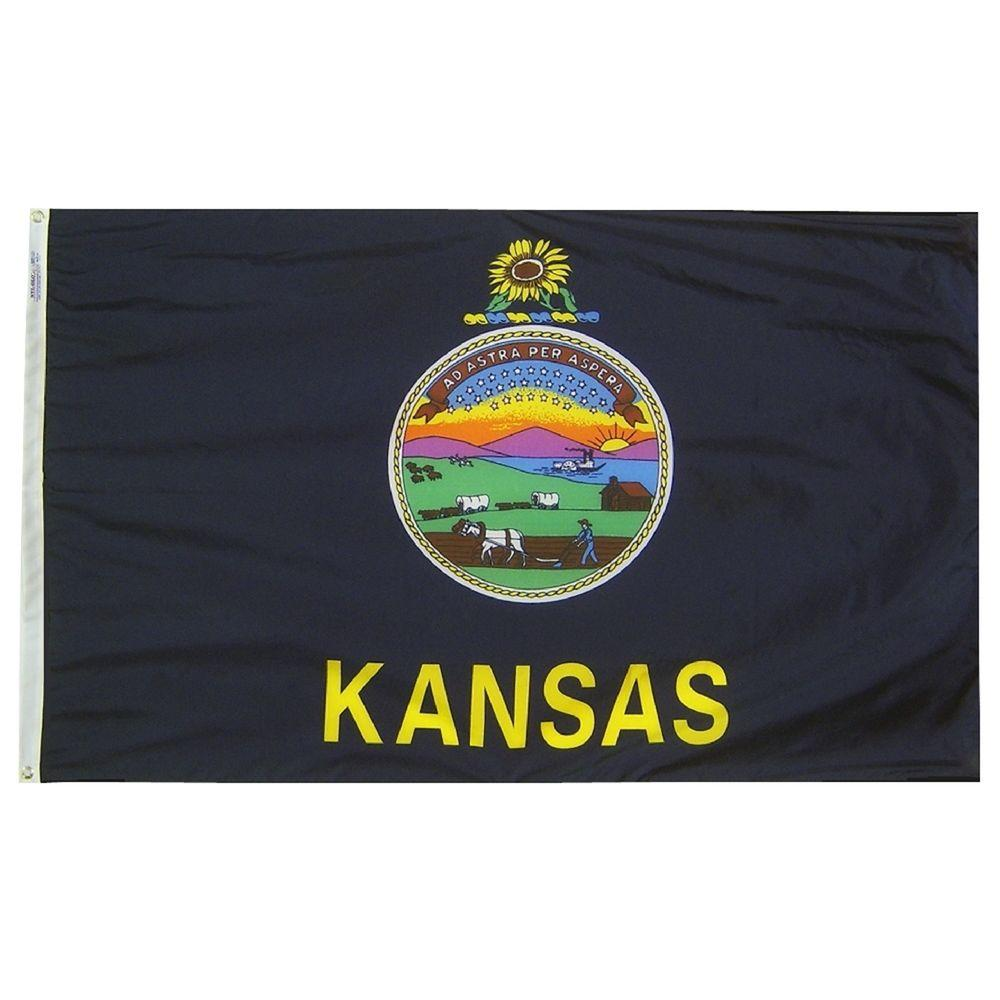 Annin Flagmakers 3 ft. x 5 ft. Kansas State Flag