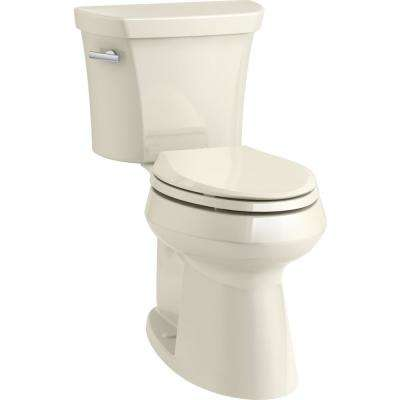 Elongated Kohler Almond Two Piece Toilets Toilets