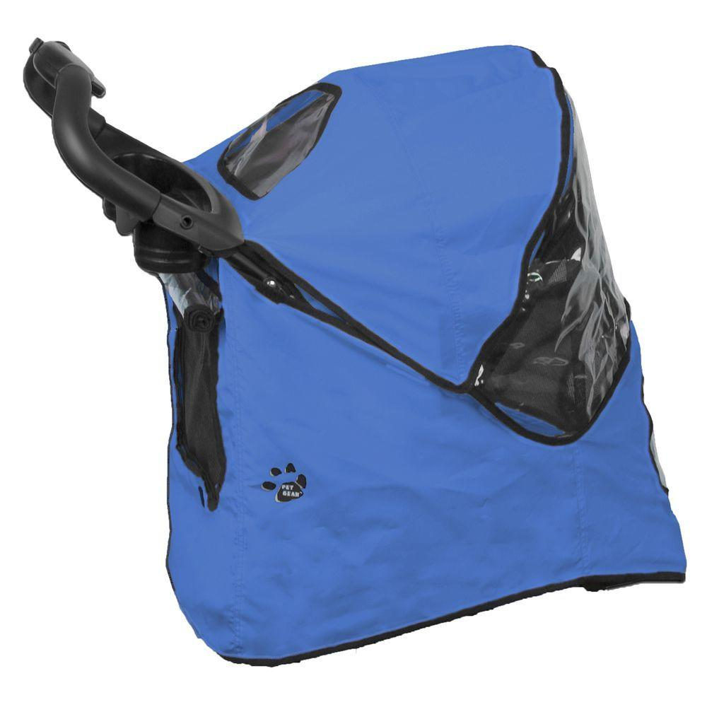 Pet Gear 24 in. L x 12 in. W x 23 in. H Weather Cover fits Happy Trails Stroller Keep your pet dry and protected from the elements with a matching Weather Cover for your Pet Gear Stroller. A clear window provides visibility while offering rain and wind protection. Pet Gear strollers are a great way to take your pet with you wherever you go.