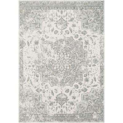 Tamara Charcoal 2 ft. 2 in. x 3 ft. Distressed Oriental Area Rug