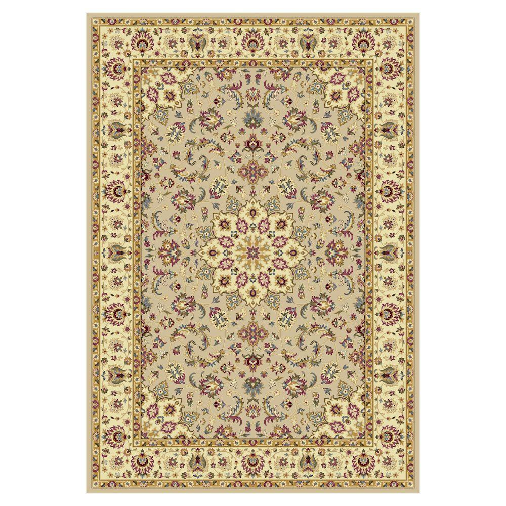 Hudson Classic Beige/Ivory 3 ft. 3 in. x 4 ft. 11