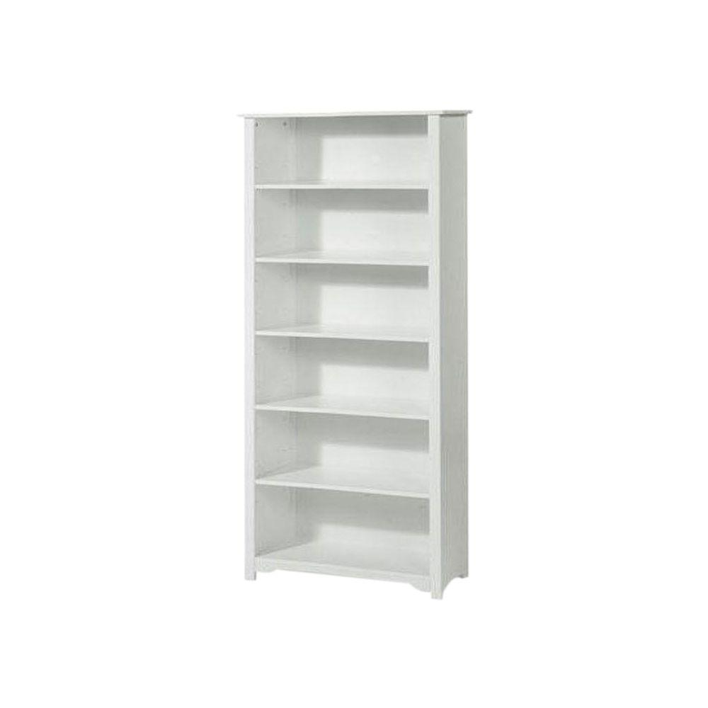 Oxford White Open Bookcase
