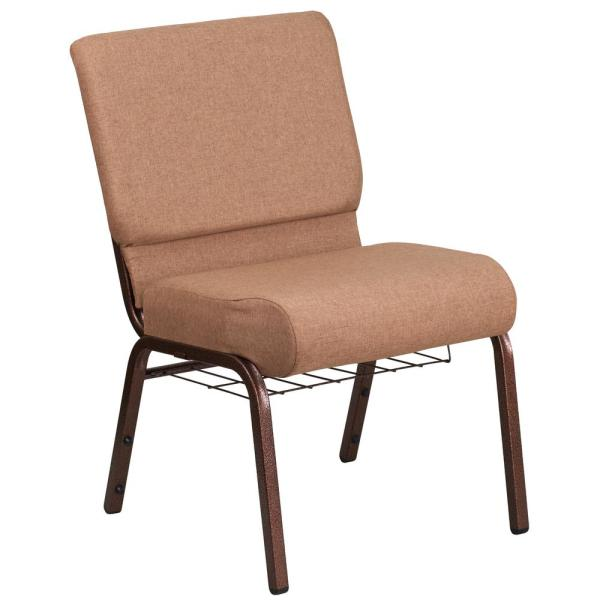Carnegy Avenue Caramel Fabric Copper Vein Frame Stack Chair Cga Fd 191212 Ca Hd The Home Depot