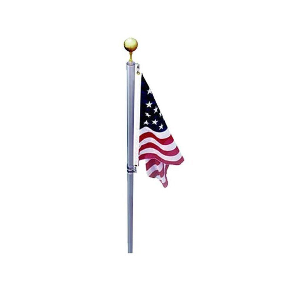 EZPole Defender 17 Ft Sectional Flagpole Kit With Swivels