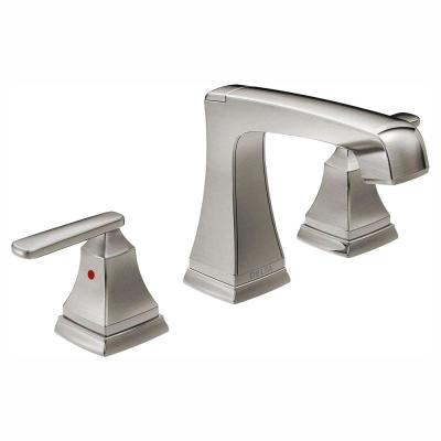 Ashlyn 8 in. Widespread 2-Handle Bathroom Faucet with Metal Drain Assembly in Stainless