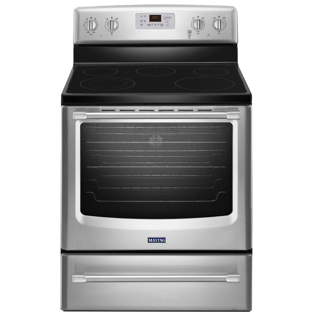 Maytag AquaLift 6.2 cu. ft. Electric Range with Self-Cleaning Convection Oven in Stainless Steel