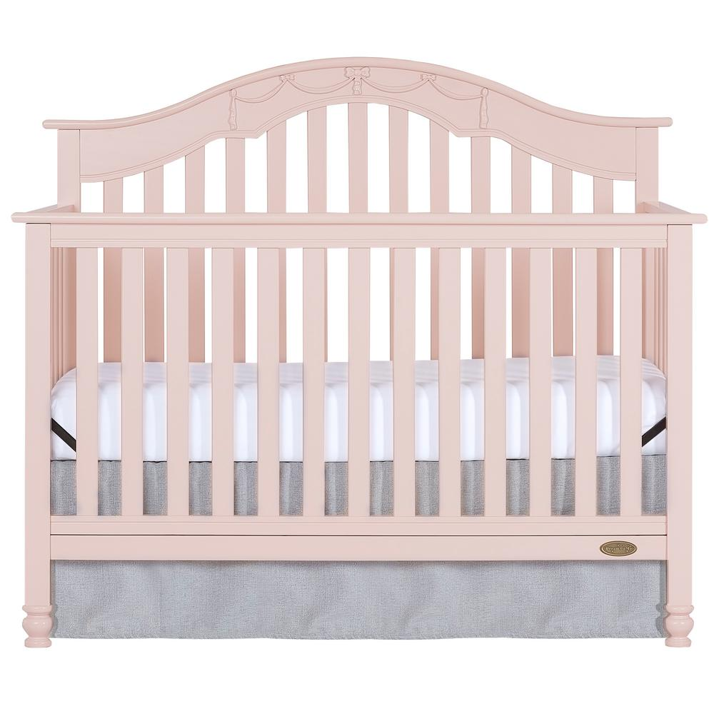 Charlotte Blush Pink 5-In-1 Convertible Crib