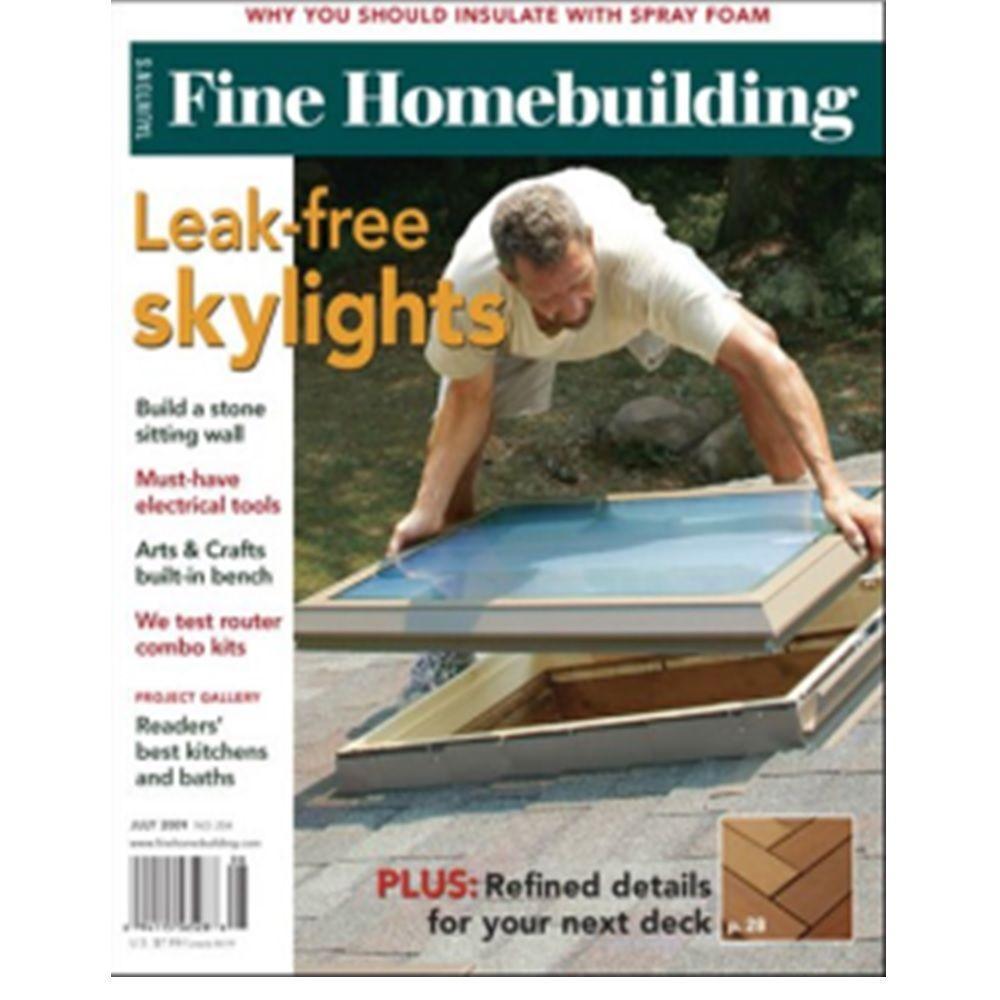 Fine homebuilding leak free skylights 56526 the home depot for Fine homebuilding
