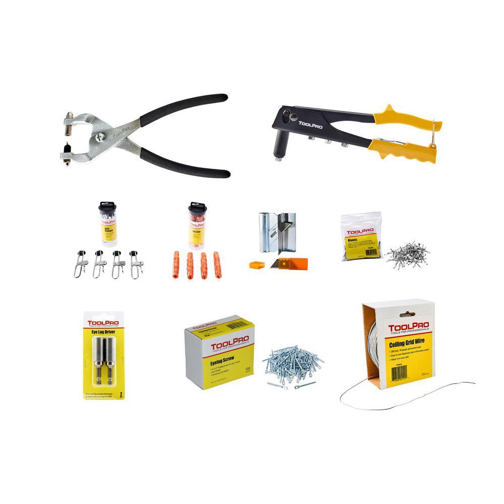 ToolPro Professional Ceiling Tool Hanging Kit-TPK20001 ...