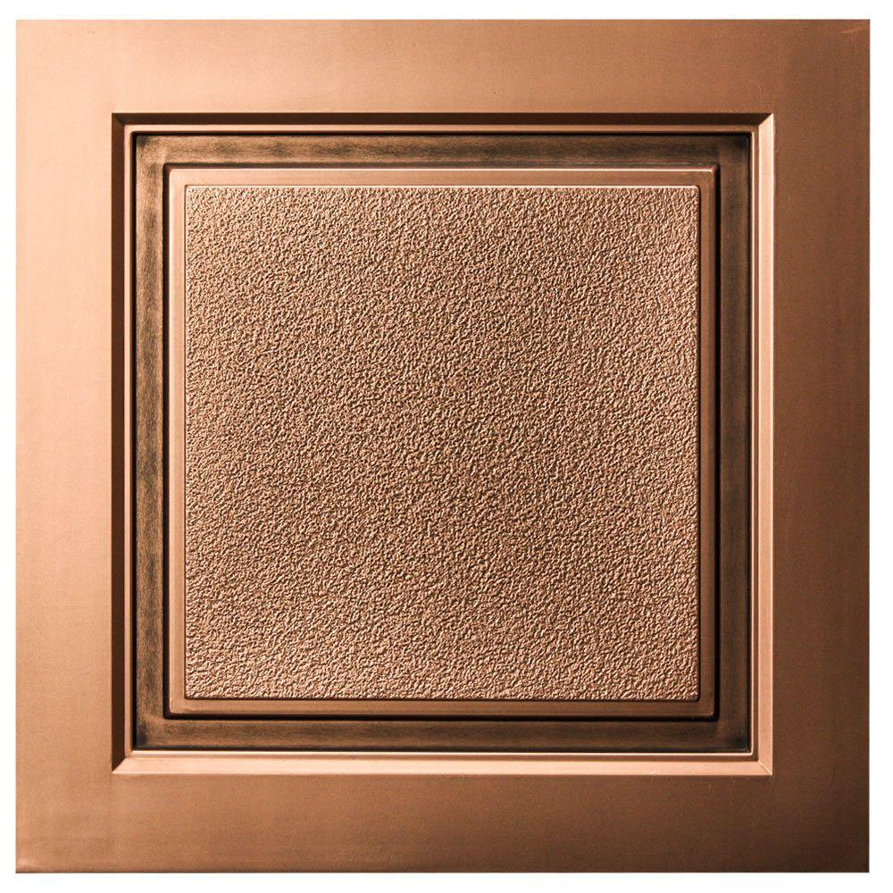 uDecor Westport 2 ft. x 2 ft. Lay-in Ceiling Tile in Antique Bronze (40 sq. ft. / case)