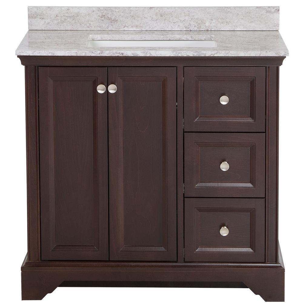 Can I Use Kitchen Cabinets In The Bathroom: Home Decorators Collection Stratfield 37 In. W X 22 In. D