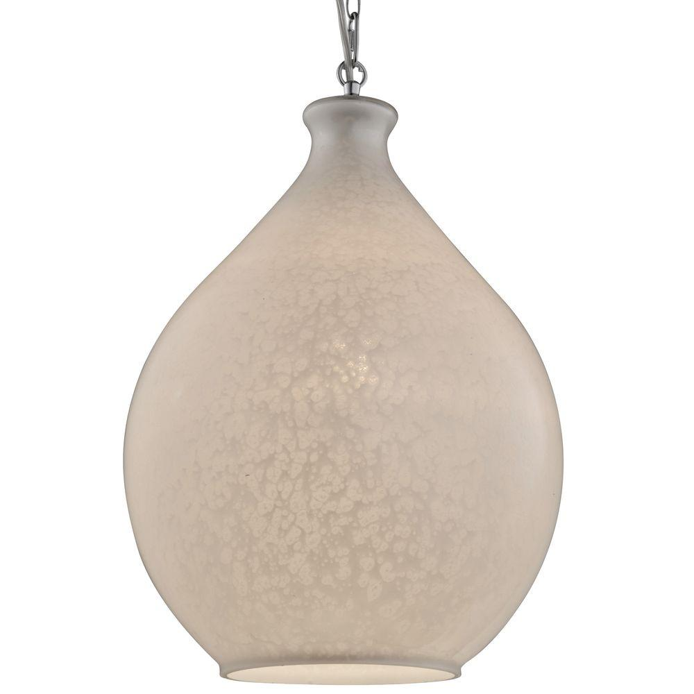 Varaluz French Quarter 1-Light Chrome Pendant With Pearl