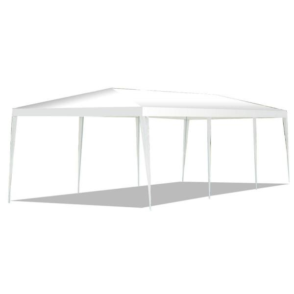30 ft. x 10 ft. White Outdoor Wedding Party Event Tent Gazebo Canopy