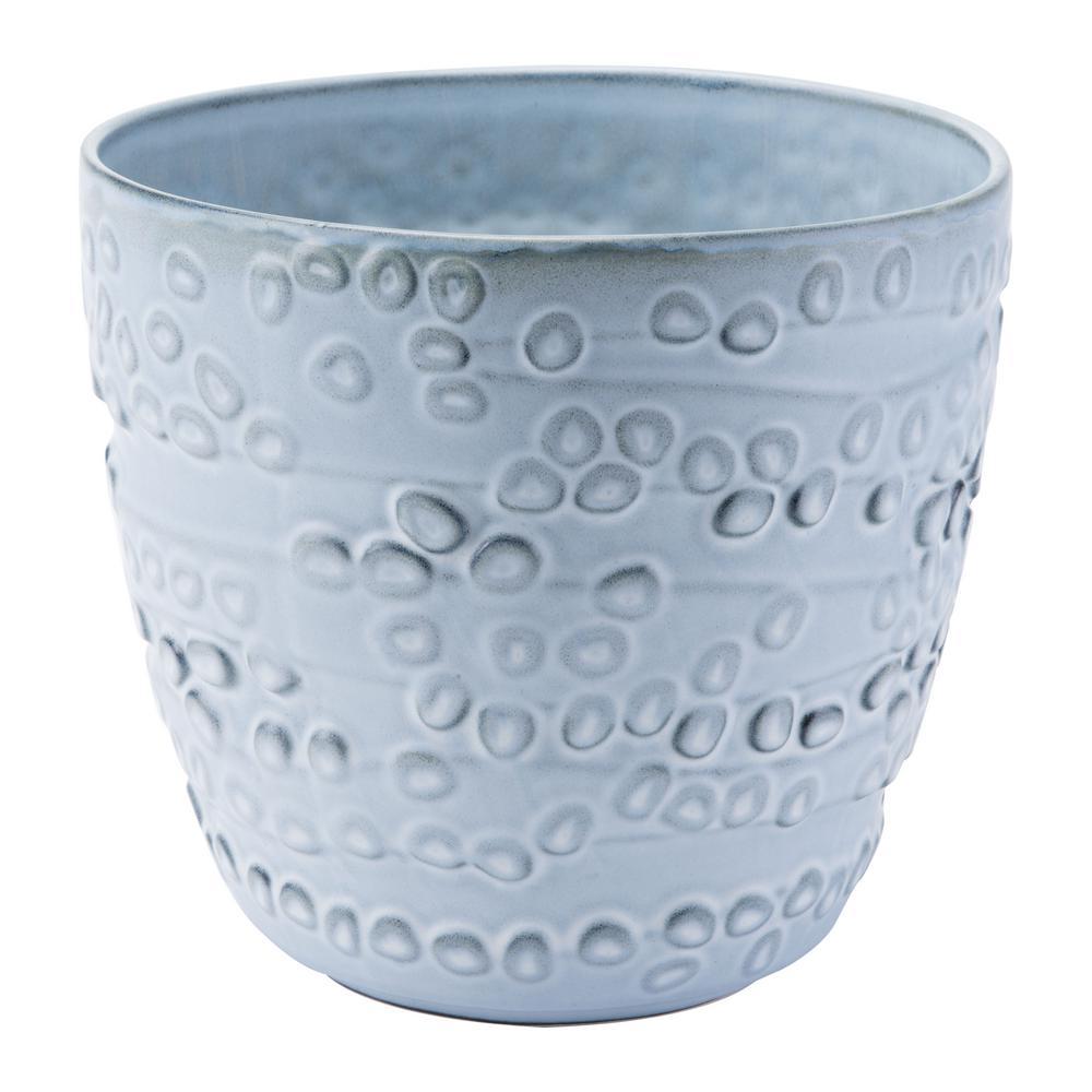 10.4 in. W x 9.4 in. H Off White Ceramic Planter