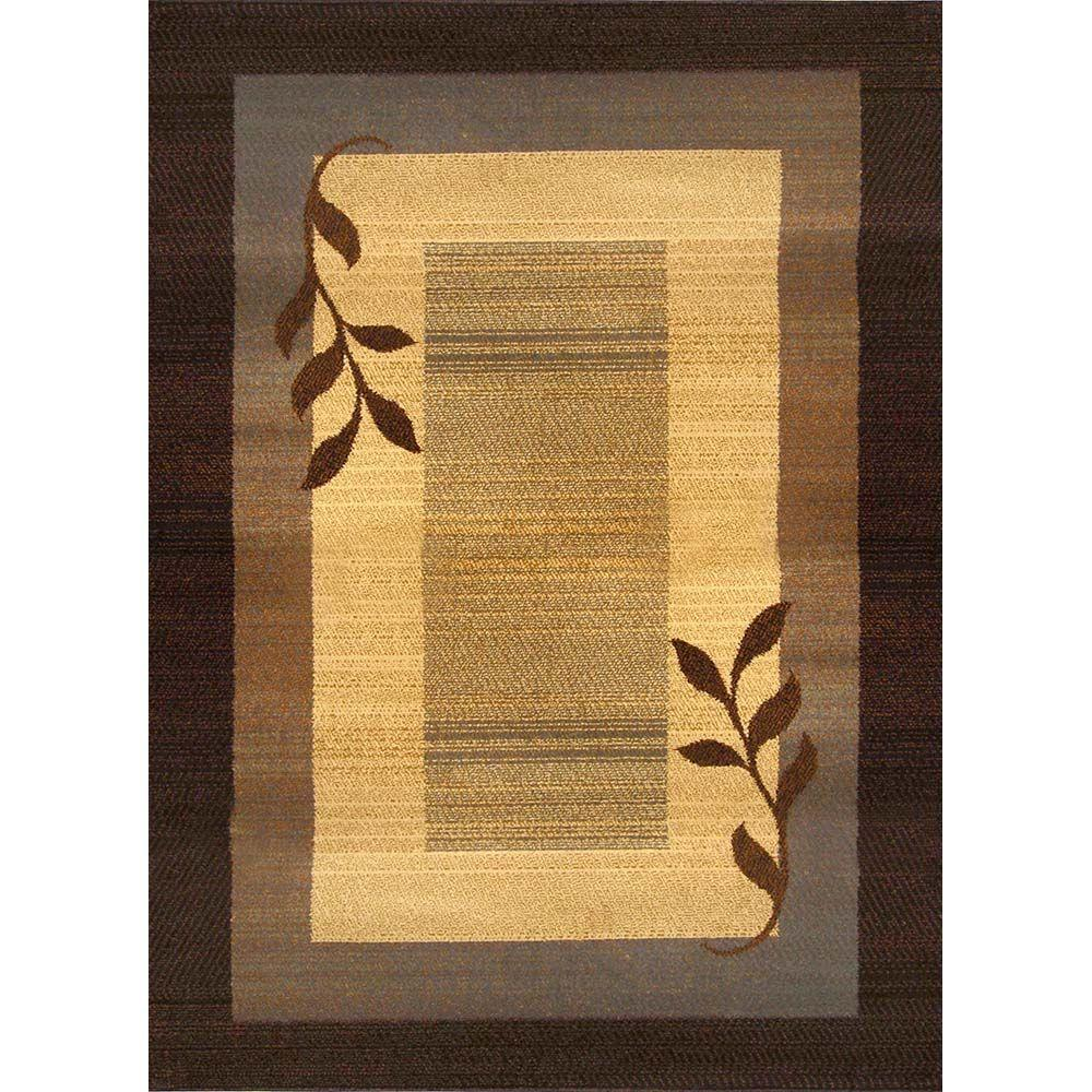 Home Dynamix Royalty Brown Blue 8 Ft X 10 Indoor Area Rug