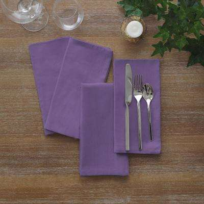 17 in. W x 17 in. L Elrene Stone WashPurple Napkins (Set of 24)
