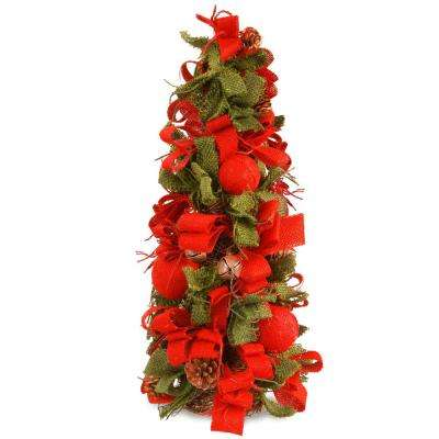 20 in. Holiday Burlap Tree
