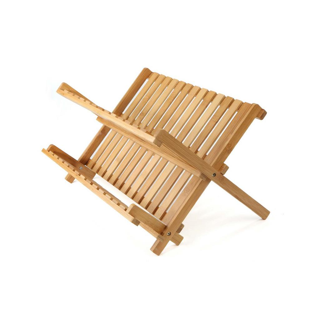 Bamboo Brown Dish Drying Rack