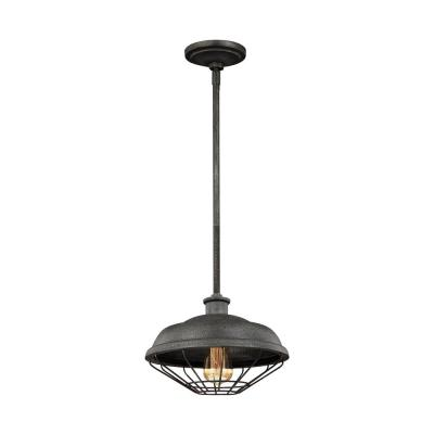 Lennex 1-Light Slated Grey Metal Mini-Pendant