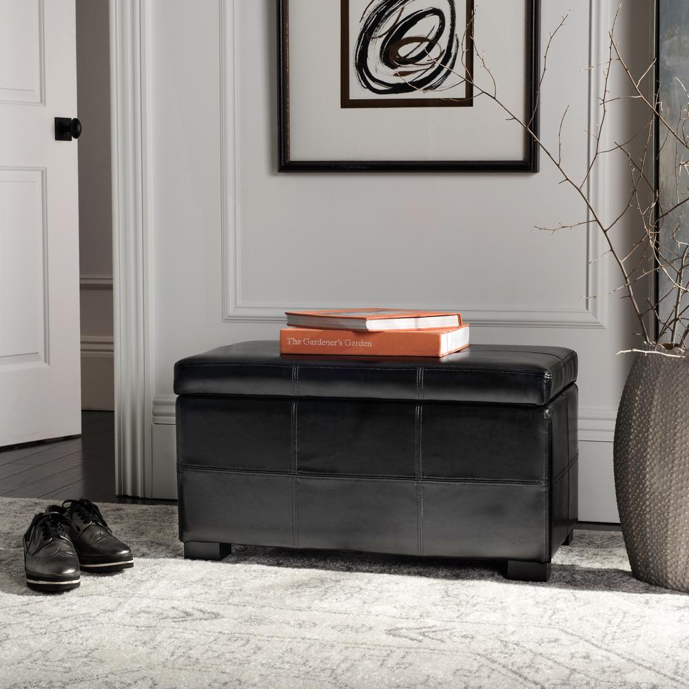 Safavieh Kerrie Black Storage Bench