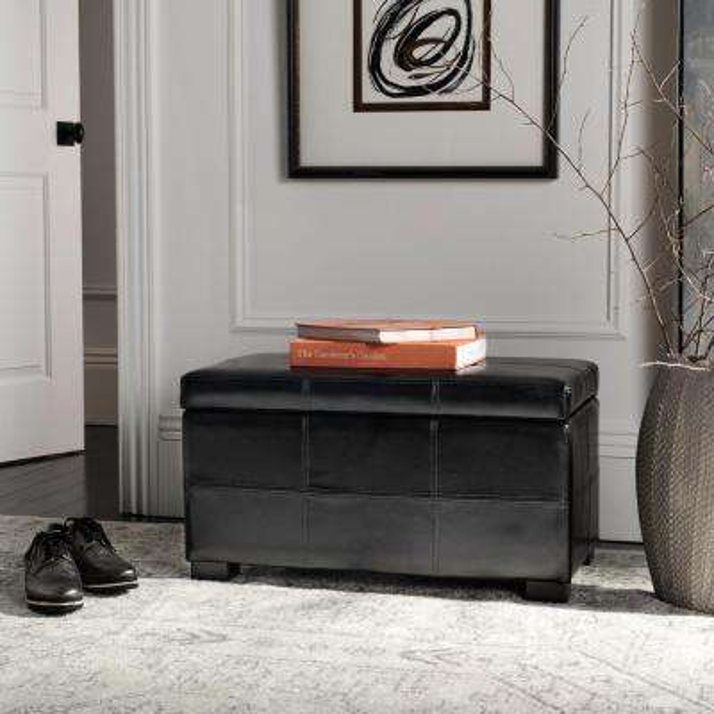 Kerrie Black Storage Bench