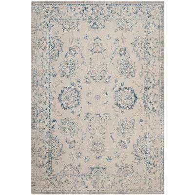Patina Gray/Blue 7 ft. x 9 ft. Area Rug