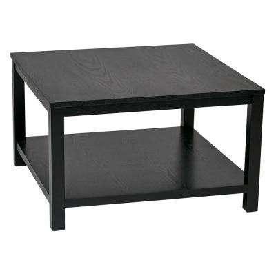Merge 30 in. Black Square Coffee Table