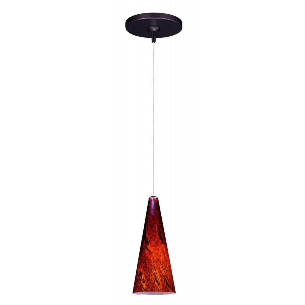 null Lava 1-Light Bronze RapidJack Pendant and Canopy
