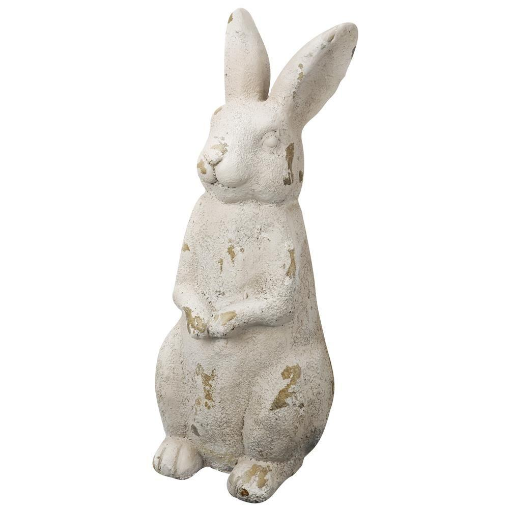 Magnesia Standing Rabbit Statue FD75439   The Home Depot