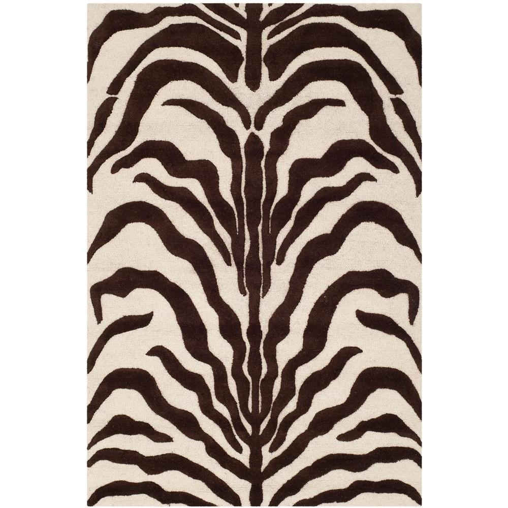 Cambridge Ivory/Brown 4 ft. x 6 ft. Area Rug