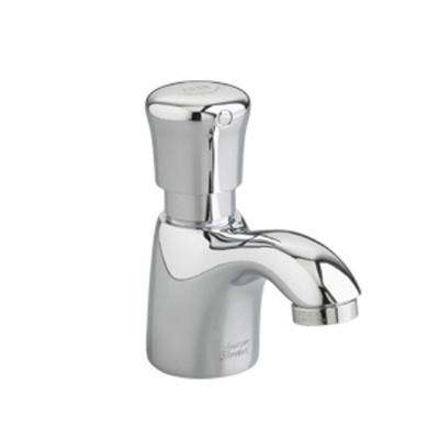 Metering Piller Tap Single Hole Single Handle Bathroom Faucet in Polished Chrome