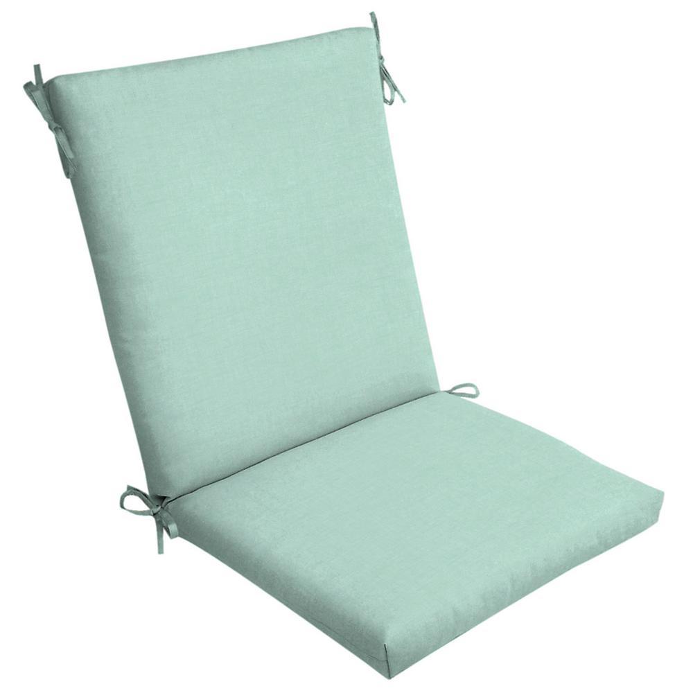 Aqua Leala Texture Outdoor High Back Dining Chair Cushion