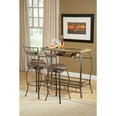Lakeview 24 in. Brown Cushioned Bar Stool