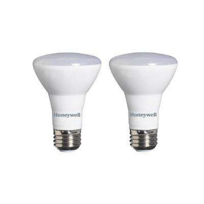 45W Equivalent Warm White R20 Dimmable LED Light Bulb (2-Pack)
