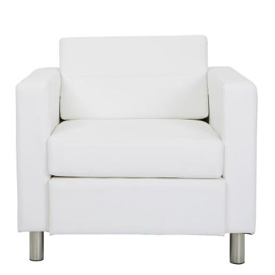 Atlantic Dillon Snow Fabric Chair with Single Charging Station