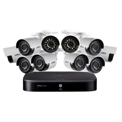 16-Channel 1080P DVR with 2TB and 10-Cameras Surveillance Security