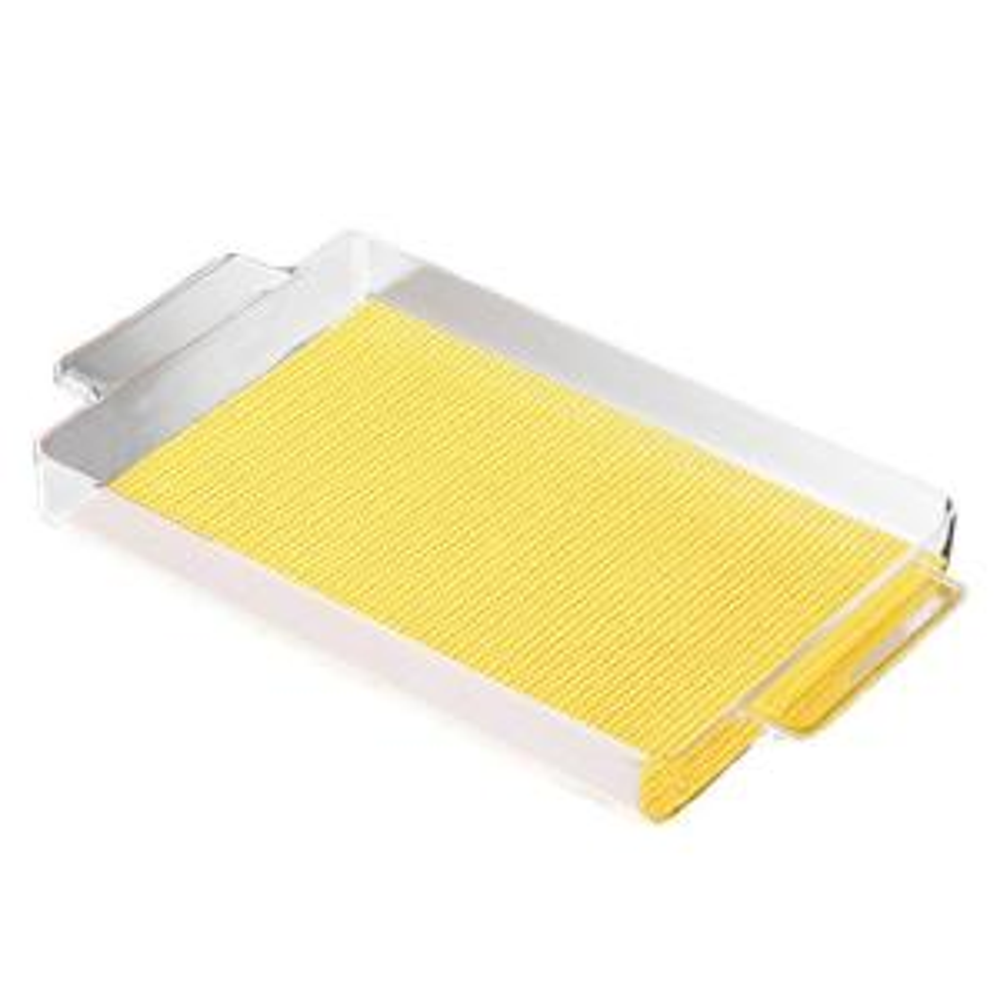 Kraftware Fishnet Rectangular Serving Tray in New Yellow by Kraftware
