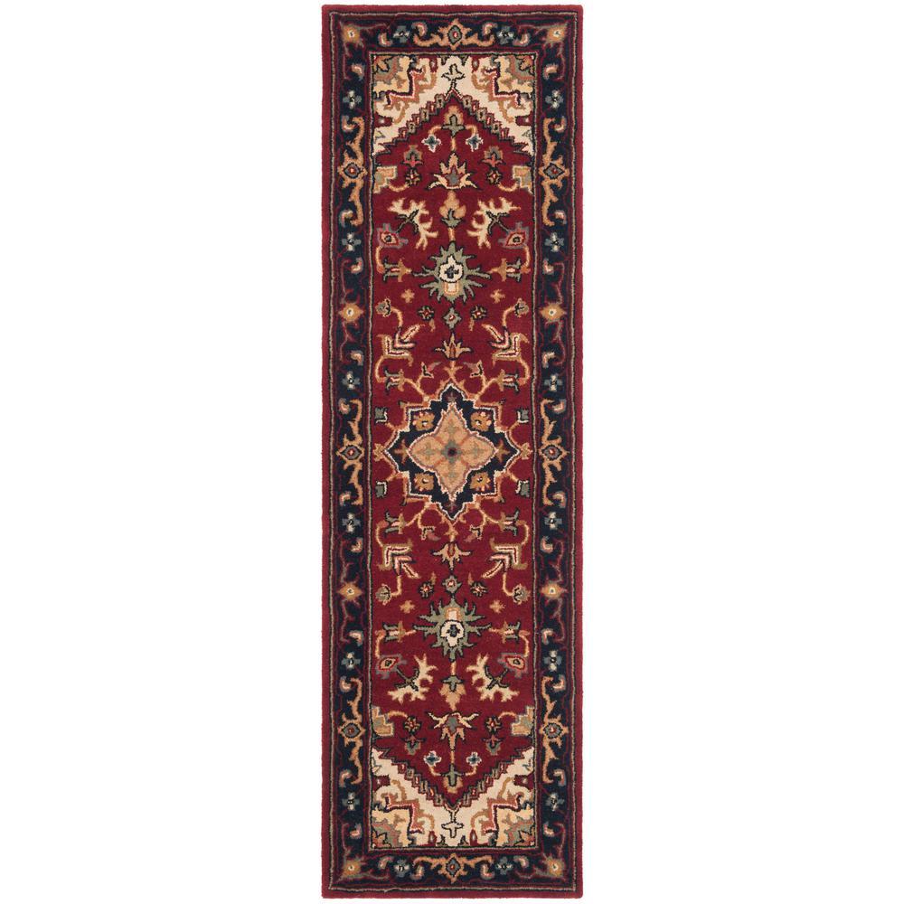 Safavieh Heritage Red 2 ft. x 18 ft. Runner Rug