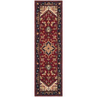 Heritage Red 2 ft. x 18 ft. Runner Rug