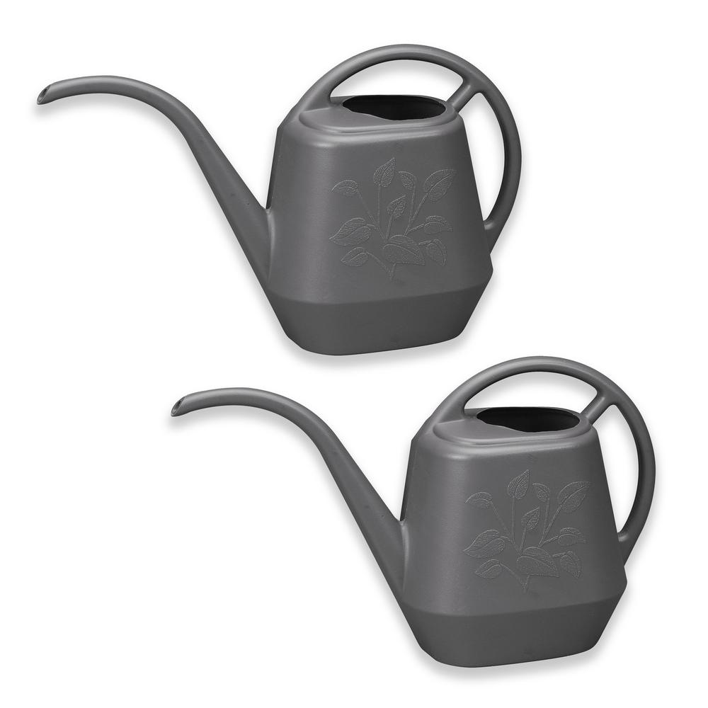 1.3 Gal. Peppercorn Watering Can Plastic Aqua Rite (2-Pack)