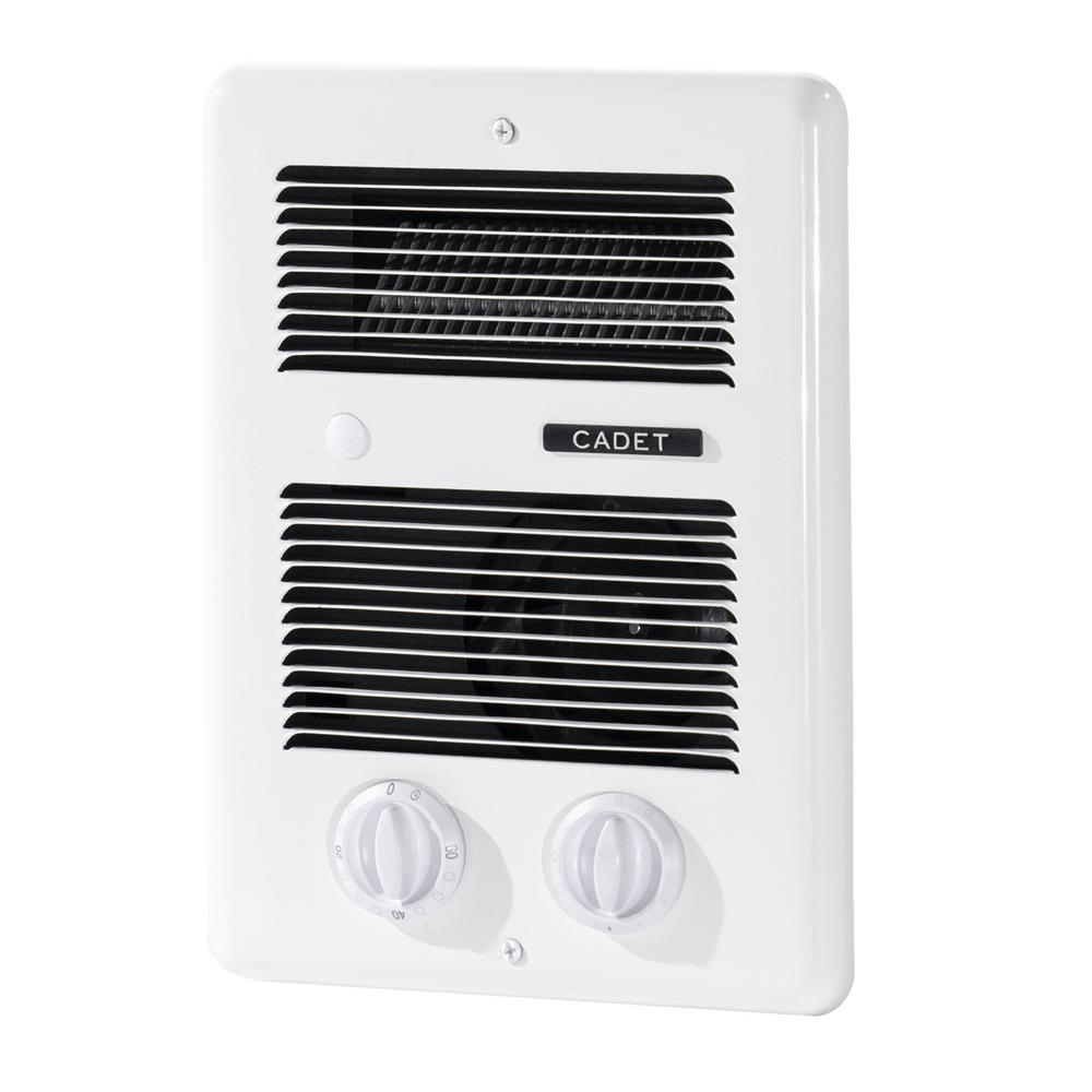 Cadet Com-Pak Bath 1,300-Watt 240-Volt In-Wall Fan-Forced Heater with Timer in White