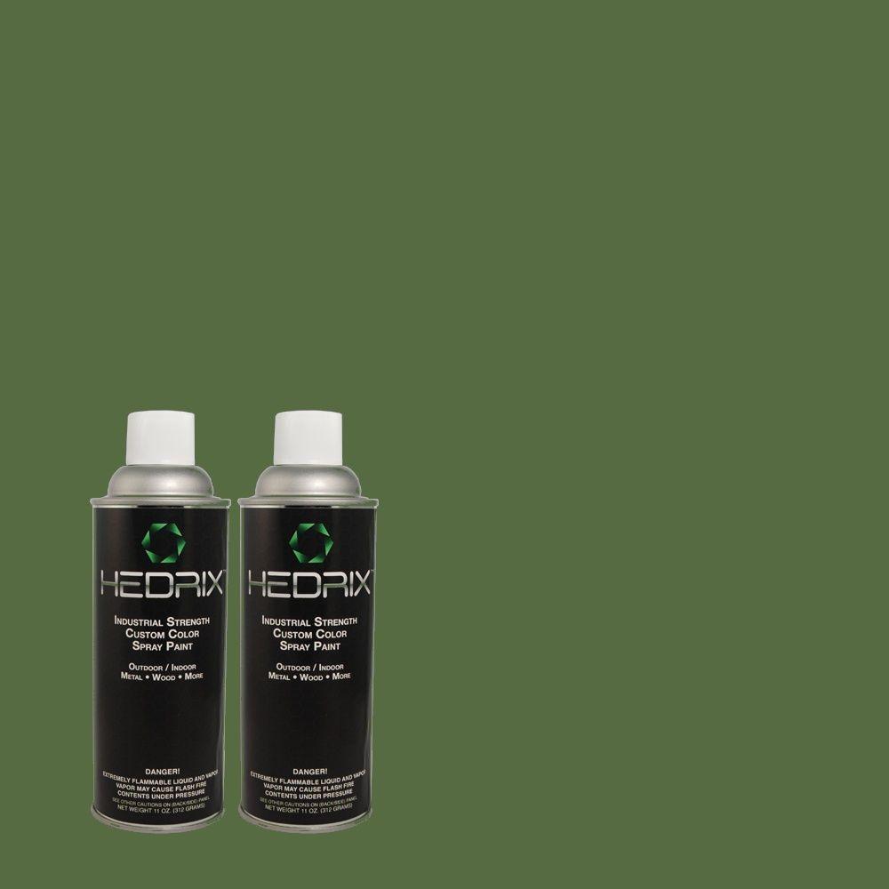 Hedrix 11 oz. Match of 460D-7 Sabal Palm Flat Custom Spray Paint (2-Pack)