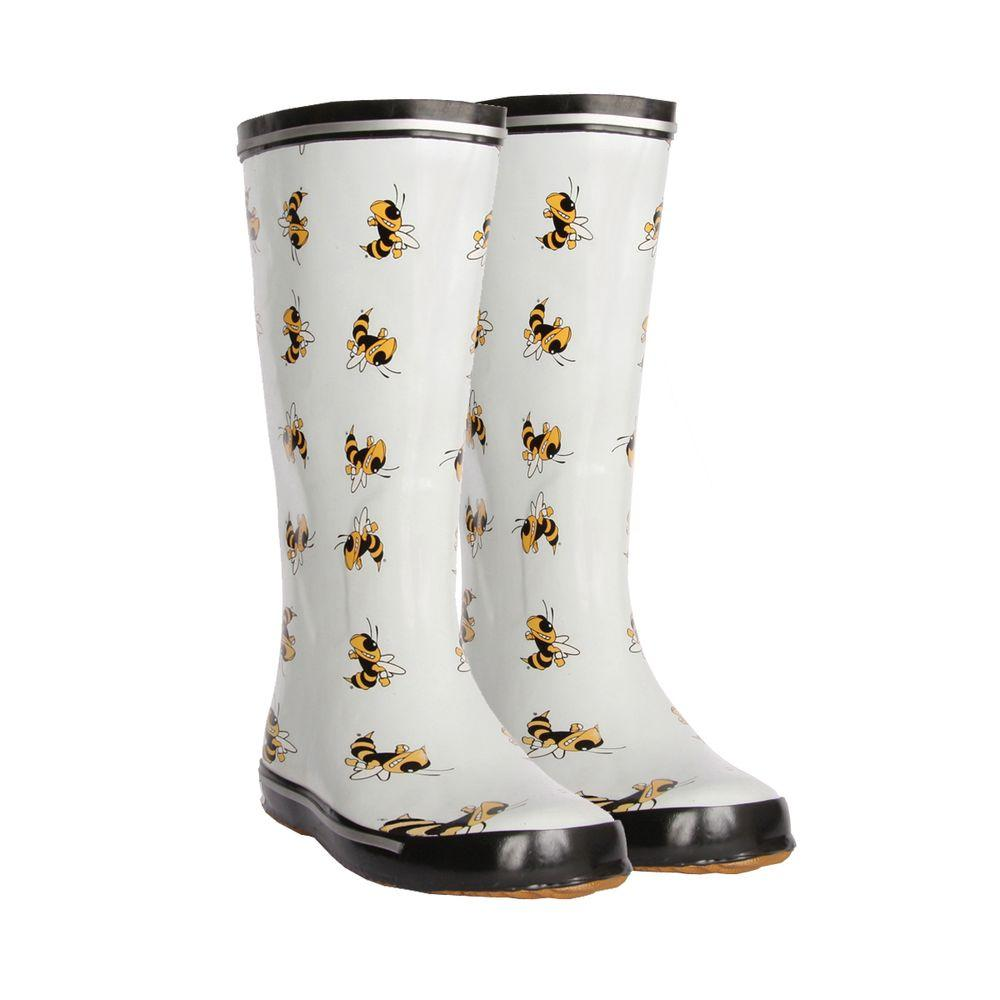 FANSHOES 12 in. Rubber NCAA Georgia Tech Team Boots Size 9-DISCONTINUED