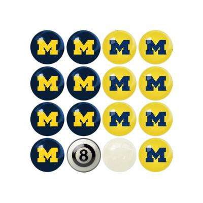 University Of Michigan Home Versus Away Billiard Ball Set