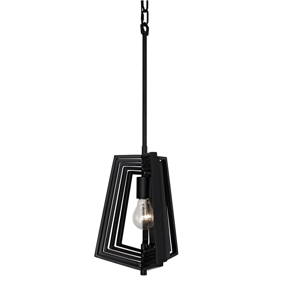 Gymnast 1-Light Black Pendant